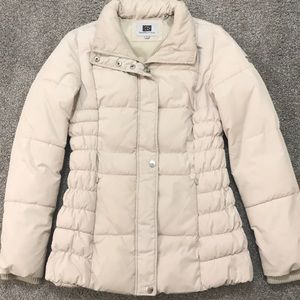 Laundry by Design beige puffer coat